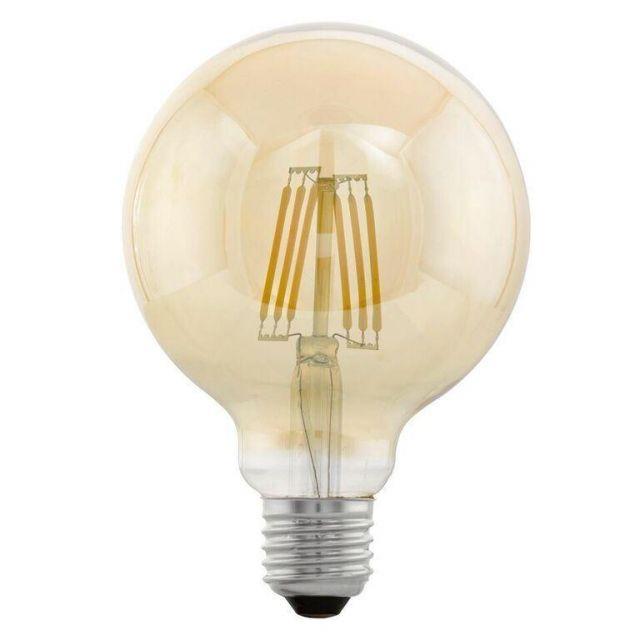 LED Filament Vintage Amber Large Globe Shape Lamp 4 watt