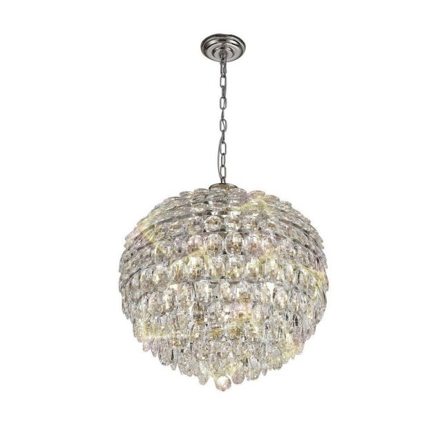 Diyas IL32802 Coniston 9 Light Ceiling Pendant In Polished Chrome