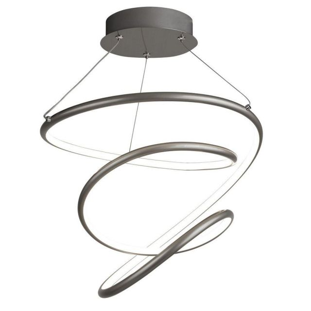 Searchlight 7341SS Magic Looped Ceiling Pendant Light In Satin Silver