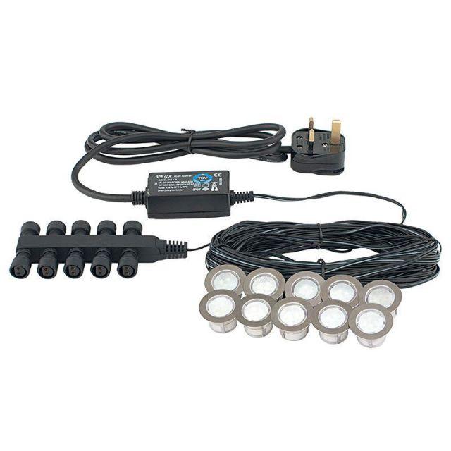 Saxby 13889 Ikon Stainless Steel LED Plinth Lighting IP67