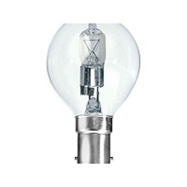 28 Watt SBC(B15) Halogen Saver Clear Golfball Lamp Single Bulb