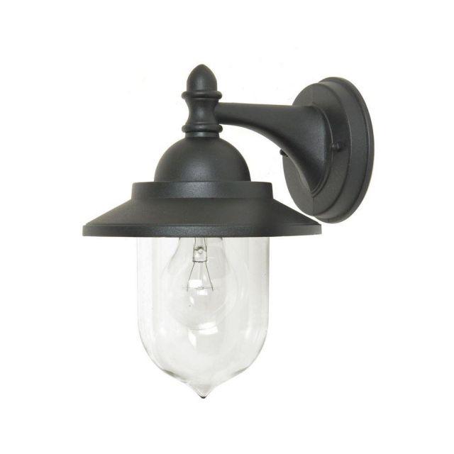 Sandown IP44 Outdoor Wall Lantern in Black