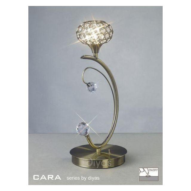 IL30949 Cara 1 Light Antique Brass Table Lamp