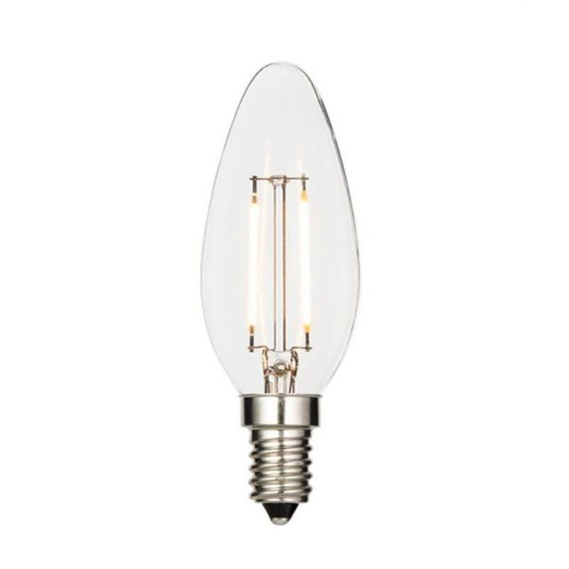 2.4 Watt SES Clear LED Candle - Warm White