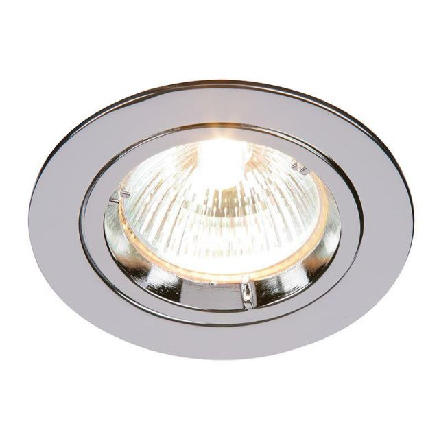 Saxby 52329 Cast Fixed Recessed Downlight in Chrome Finish
