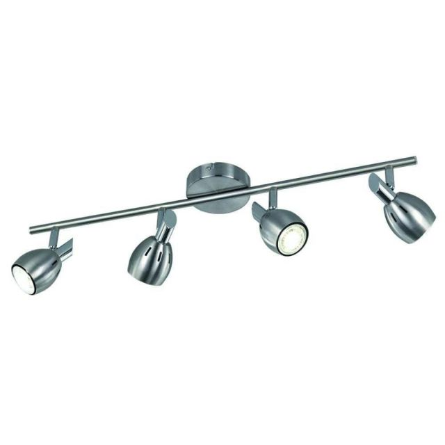 SP9004 Lazio 4 Light Bar Ceiling Light In Chrome With Fully Adjustable Spotlights