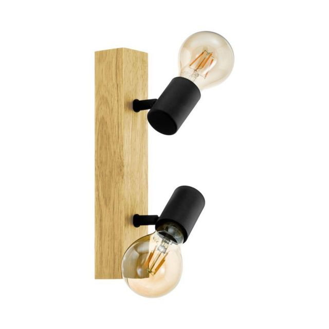 Eglo 98112 Townshend 3 2 Light Spotlight In Brown And Black