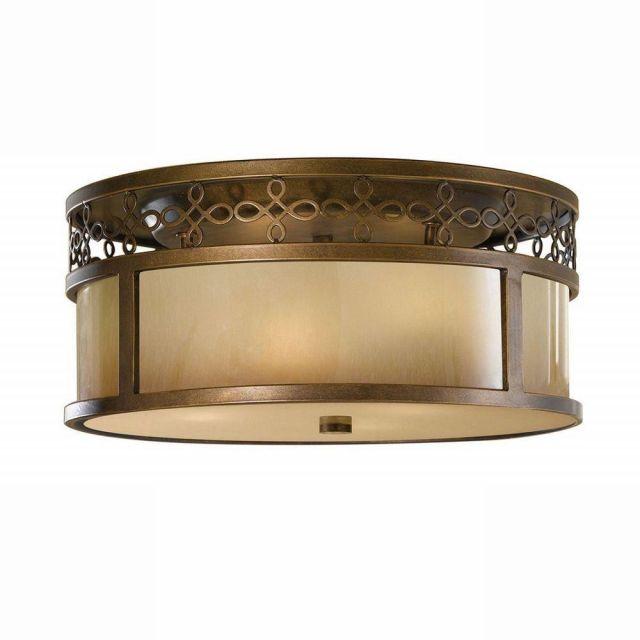 FE/JUSTINE/F Justine 3 Lt Flush Astral Bronze Ceiling Light