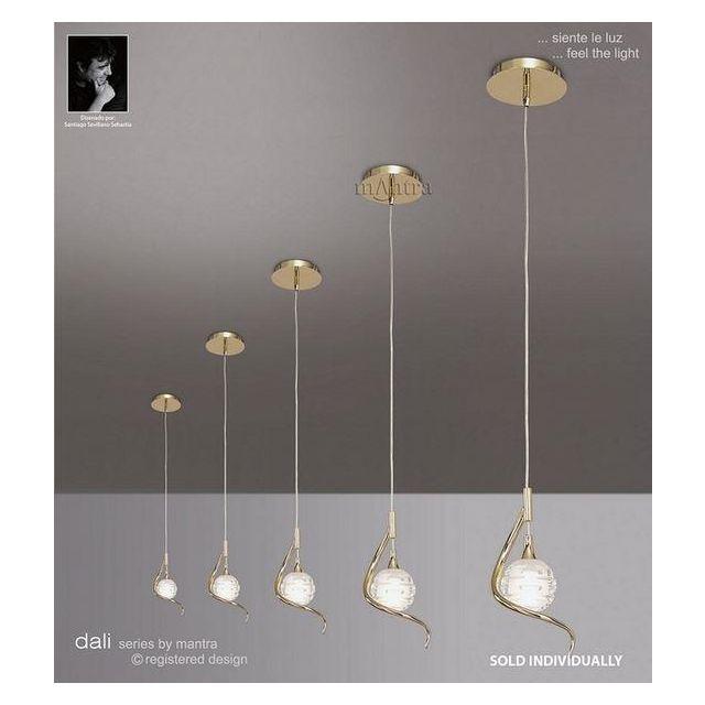 M0084PB Dali 1 Light Polished Brass Ceiling Pendant Light