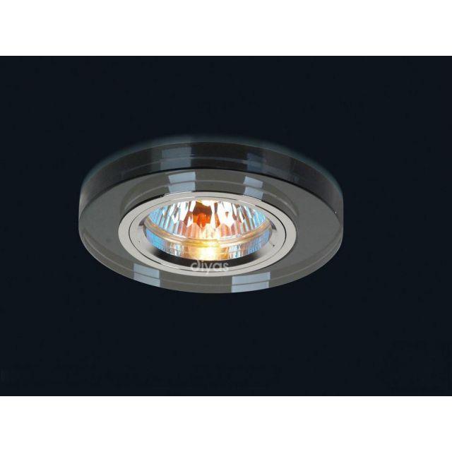 Diyas IL30806BL Black Crystal Recessed Round Downlights Fascia