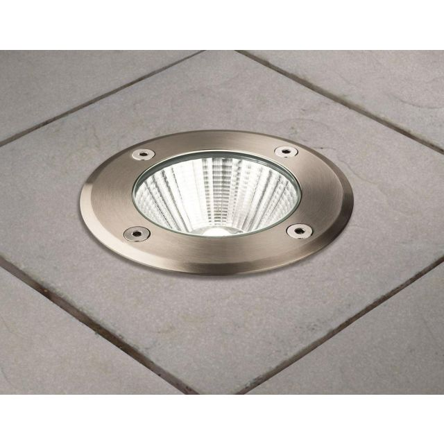 Firstlight 3734ST LED Driveover Lights In Stainless Steel - Dia: 110mm