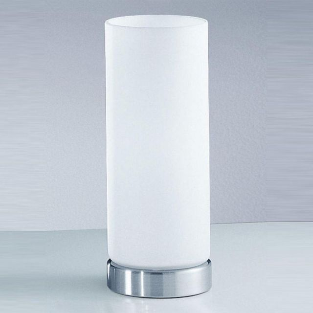 T746 Glass and Brushed Nickel Touch Lamp