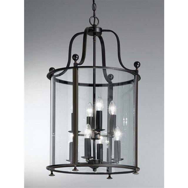L7001/8 8 Light Antique Bronze Hanging Lantern