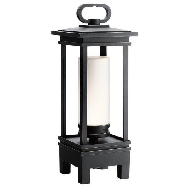 LED Portable Lantern with Bluetooth Speaker In Rubbed Bronze