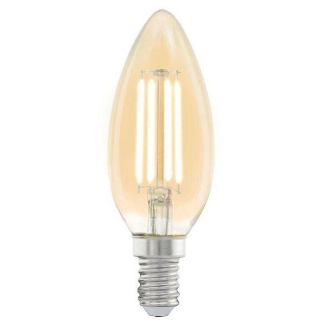 LED Filament Vintage Amber Candle Shape Lamp 4 watt