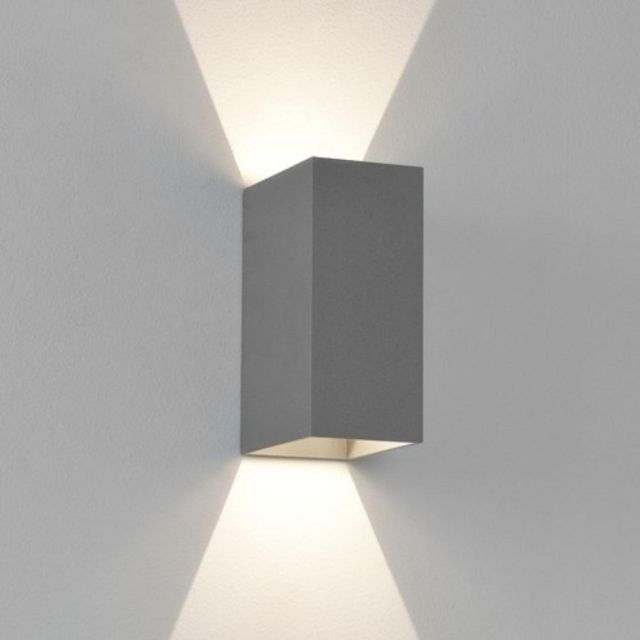 Astro 1298001 Oslo 160 LED Outdoor Wall Light in Painted Silver