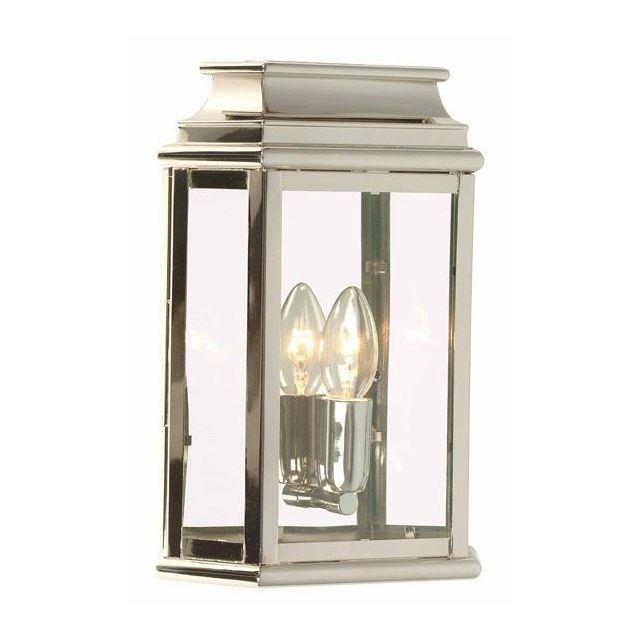 St Martins Solid Brass Outdoor Lantern, Polished Nickel