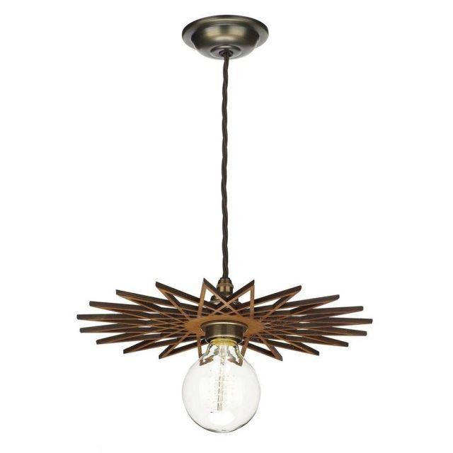 David Hunt Lighting PEG8643 Pegasus Easy Fit Shade In Wood - Diameter 25cm