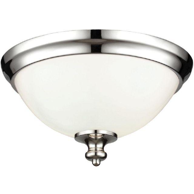 FE/PARKMAN/F PN Parkman 2 Light Polished Nickel Flush Mount Light