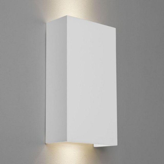 Astro 1315002 Pella 190 GU10 Minimalist Double Wall Light in Plaster Finish