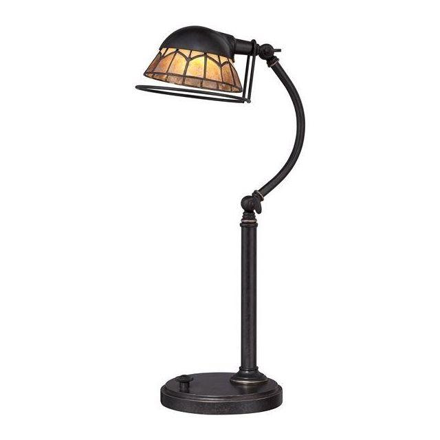 QZ/WHITNEY/TL Whitney Bronze LED Table Lamp with Shade