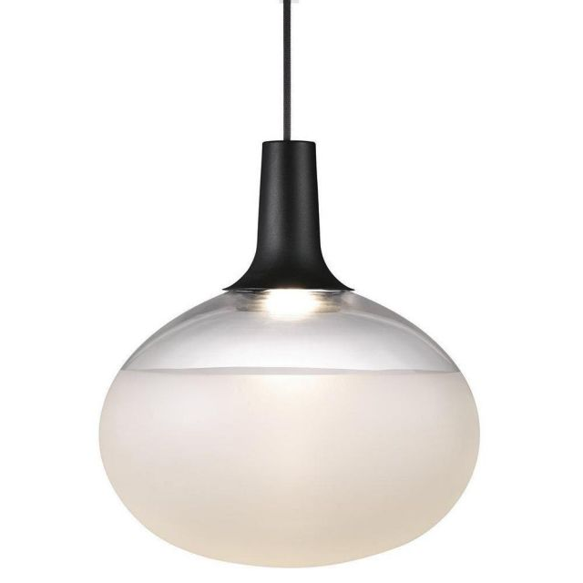 Nordlux 84383003 Dee LED Ceiling Pendant Light In Black With Frosted Glass
