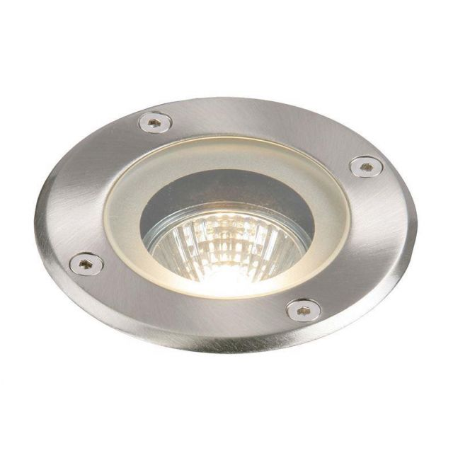 Saxby GH98042V Pillar Outdoor Ground Recessed Light in Polished Stainless Steel