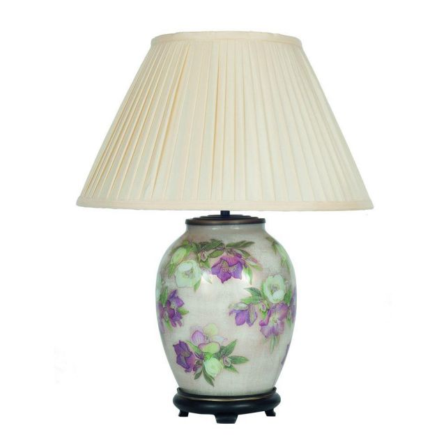 Jenny Worrall JW59 Hellebore Table Lamp With Almond Silk Shade