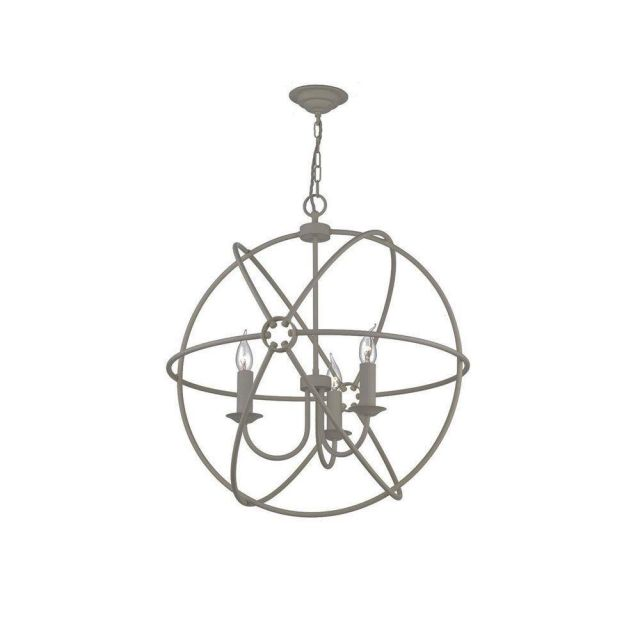 David Hunt Lighting ORB0339 Orb 3 Light Ceiling Pendant in Ash Grey