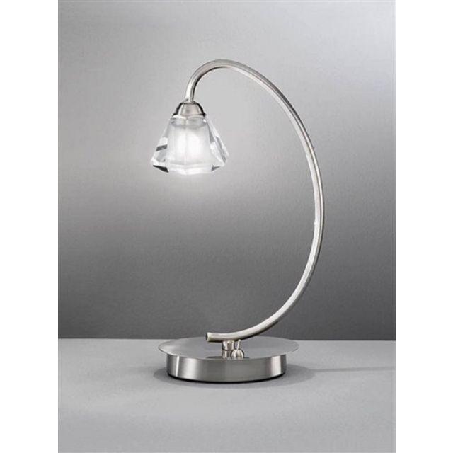 T971 Twist 1 Light Satin Nickel Table Lamp