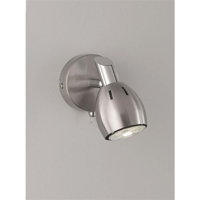 SP9001 Lazio 1 Light Wall Light In Chrome With Fully Adjustable Spotlight