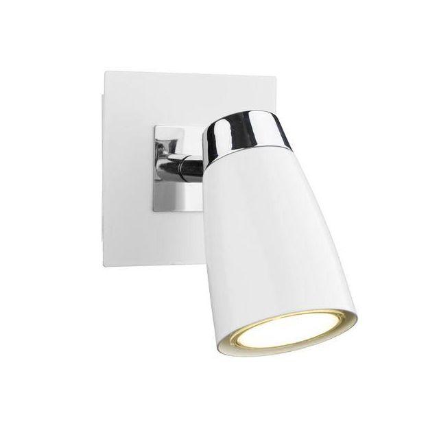 Dar LOF072 Loft Single Low Energy Spotlight With White Finish