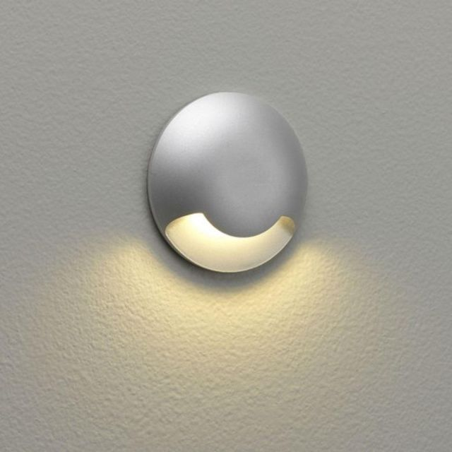 Astro 1202001 Beam One Round Outdoor Single Down Light Silver