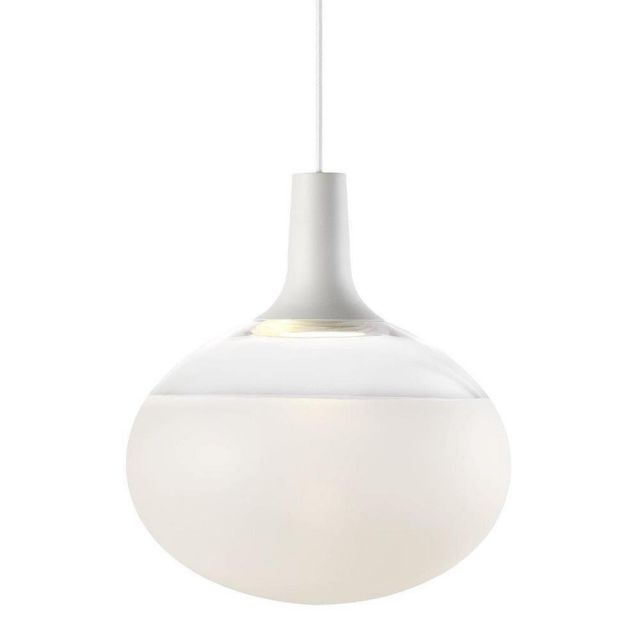 Nordlux 84413001 Dee 2.0 Ceiling Pendant Light In White With Frosted Glass - Dia: 350mm