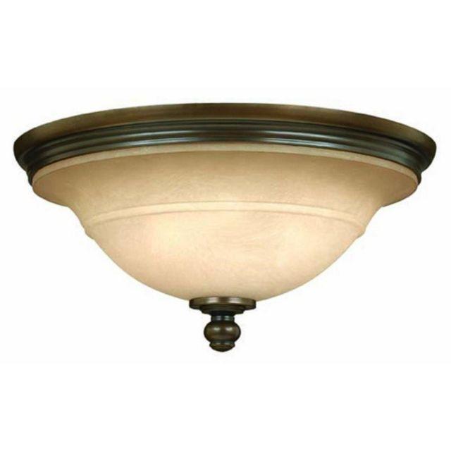 HK/PLYMOUTH/F 3 Light Vintage Flush Ceiling Light in Bronze