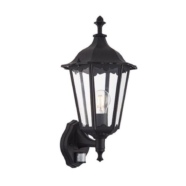 Endon 76548 Burford 1 Light Outdoor Wall Photocell And PIR Light In Matt Black