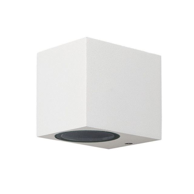 Mantra M6517 Kandanchu 1 Light Square Outdoor Wall Light In Sand White - H: 80mm