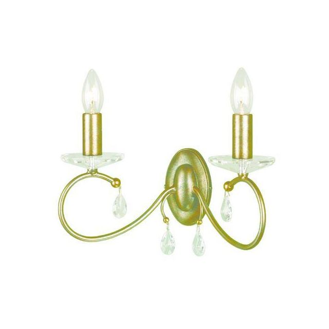 Elstead DY2 Silver/Gold Darcy double wall light