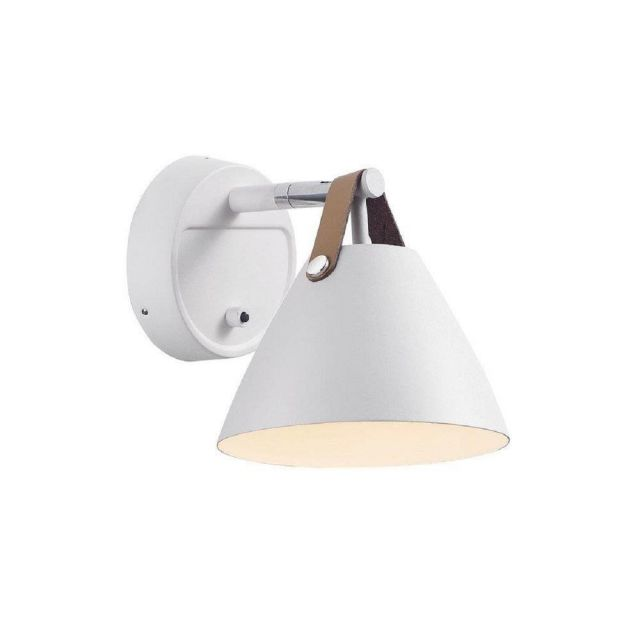 Nordlux 84291001 Strap 15 1 Light Wall Light In White