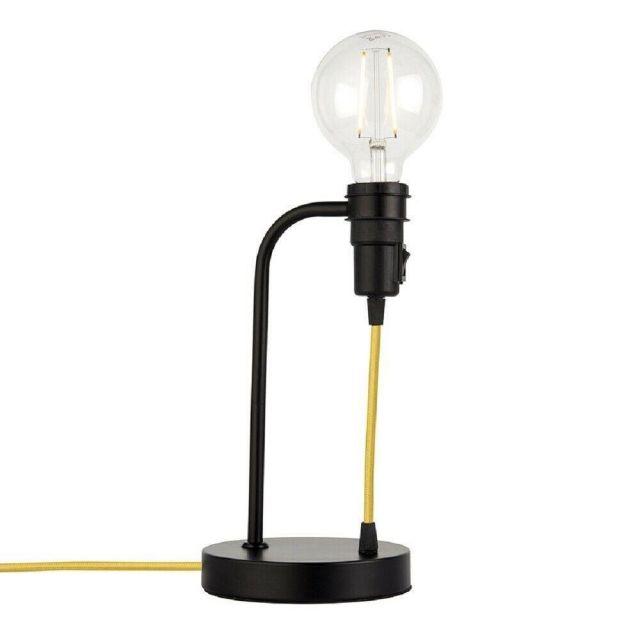 Endon 79383 Studio 1 Light Table Lamp In Matt Black