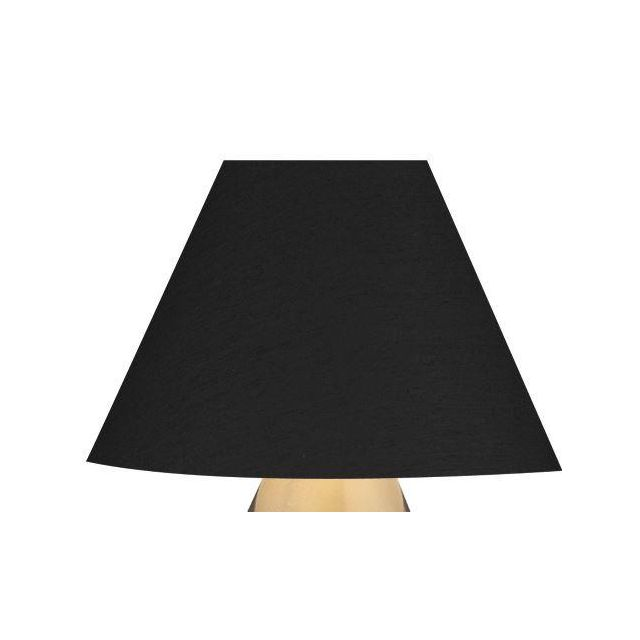 Dar S3643 Black Candle Shade With Silver Lining