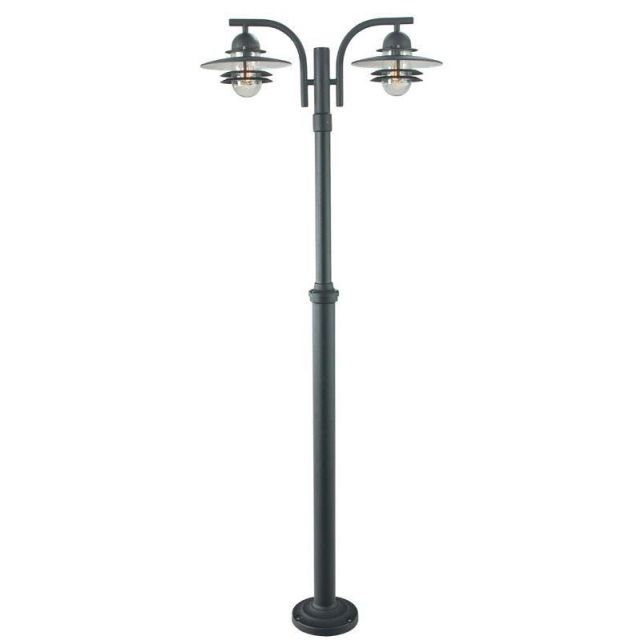 Norlys OS6 Oslo exterior twin post lantern in a choice of finish