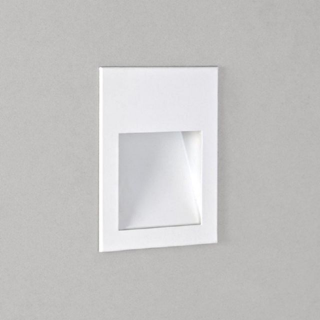 Astro 1212019 Borgo One Light LED Recessed Wall Light In White, 3000K - H: 70mm