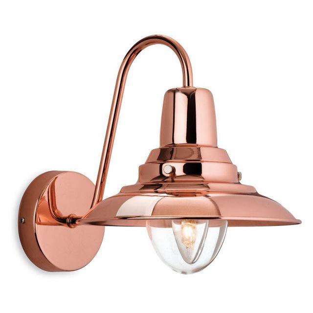 Firstlight 8686CP Fisherman 1 Light Wall Lantern in Copper Finish