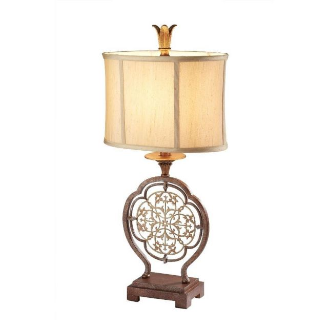 FE/MARCELLA/TL Marcella Bronze Table Lamp with Shade