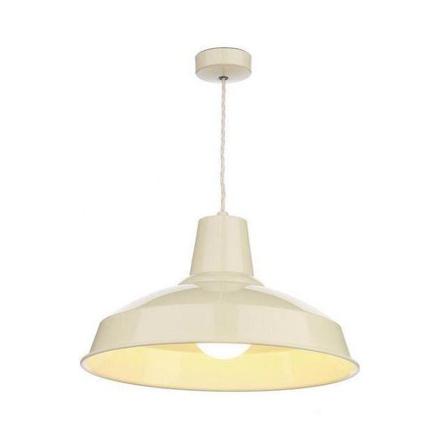 David Hunt Lighting REC0133 Reclamation 1 Light Ceiling Pendant in Cream