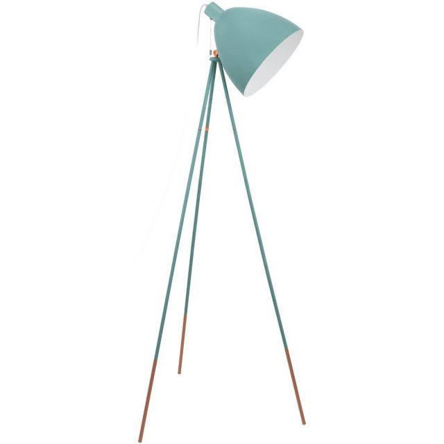 Eglo 49342 Dundee 1 Light Floor Lamp In Mint Green Steel