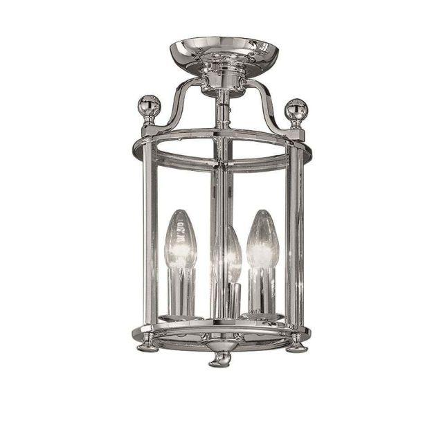 L7000/3 3 Light Chrome Flush Lantern