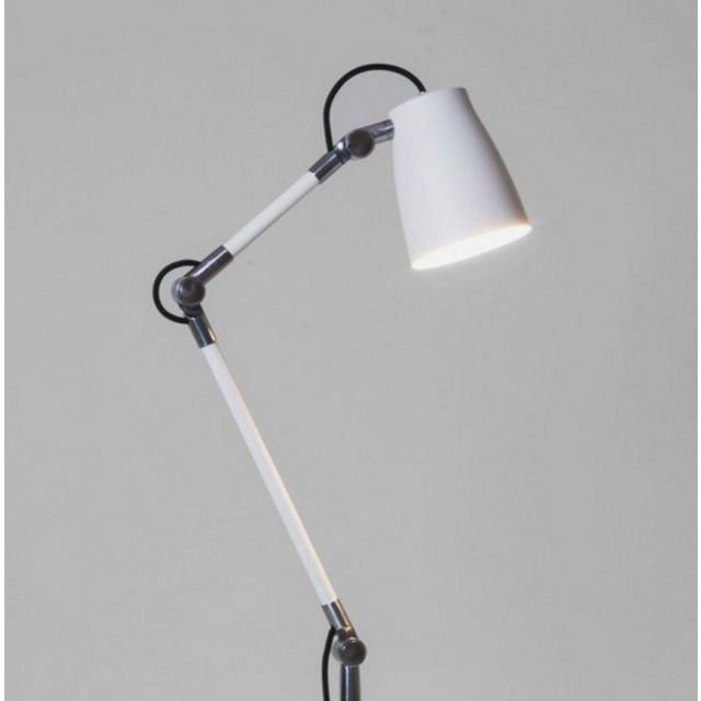 Astro Lighting 1224002  + 1224010 Atelier Arm Assembly with Clamp in White Finish