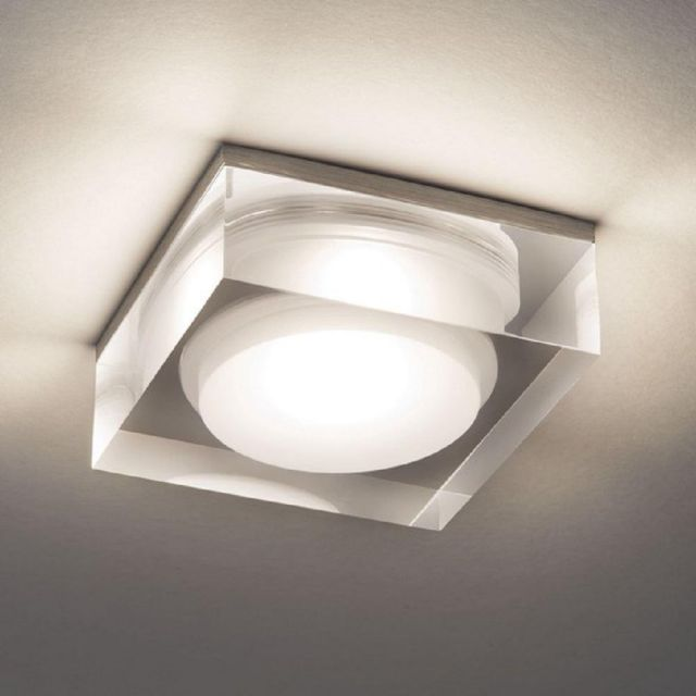 Astro 1229013 Vancouver 90 LED Square Bathroom Recessed Downlight In Clear Acrylic